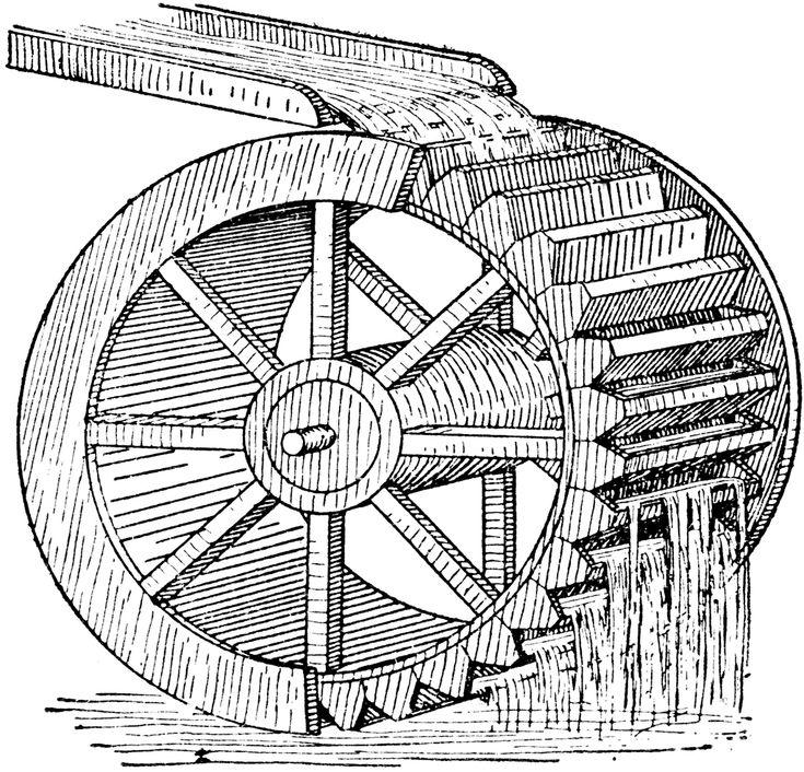 Mill waterwheel clipart clipart kid rodas dgua pinterest ccuart Images