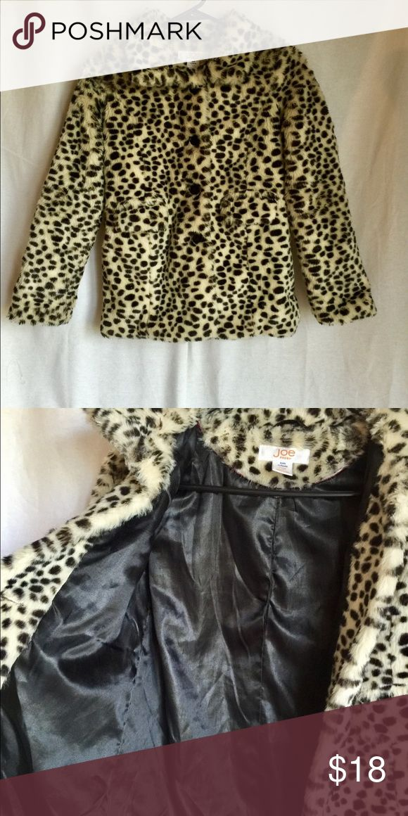 ♨️JUST IN- 🐆GIRLS Faux Fur Coat Cheetah print pattern throughout, stain lining. Button closer. Pockets on each side. Will post length measurements soon. Joe Fresh Jackets & Coats