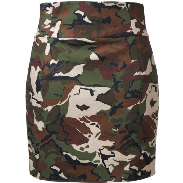 Alexandre Vauthier camouflage fitted skirt (1,015 CAD) ❤ liked on Polyvore featuring skirts, green, fitted skirts, camouflage skirt, alexandre vauthier, camo skirt and camo print skirt