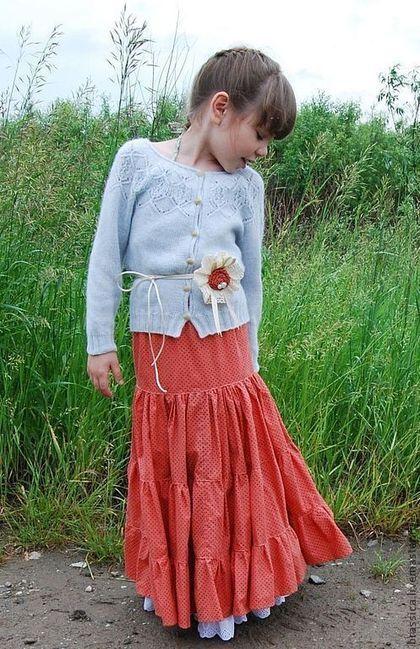 Jacket for girl / Одежда для девочек, ручной работы. Ярмарка Мастеров - ручная работа. Купить Жакет вязаный для девочки Льдинка. Handmade. Жакет