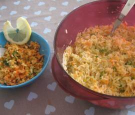 Recette Crudités et riz aux légumes vite fait! par elleisab - recette de la catégorie Accompagnements