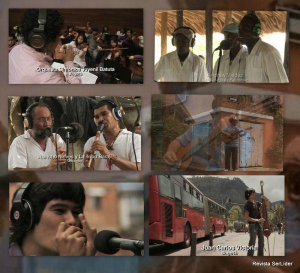 Músicos colombianos en cancion La tierra del Olvido