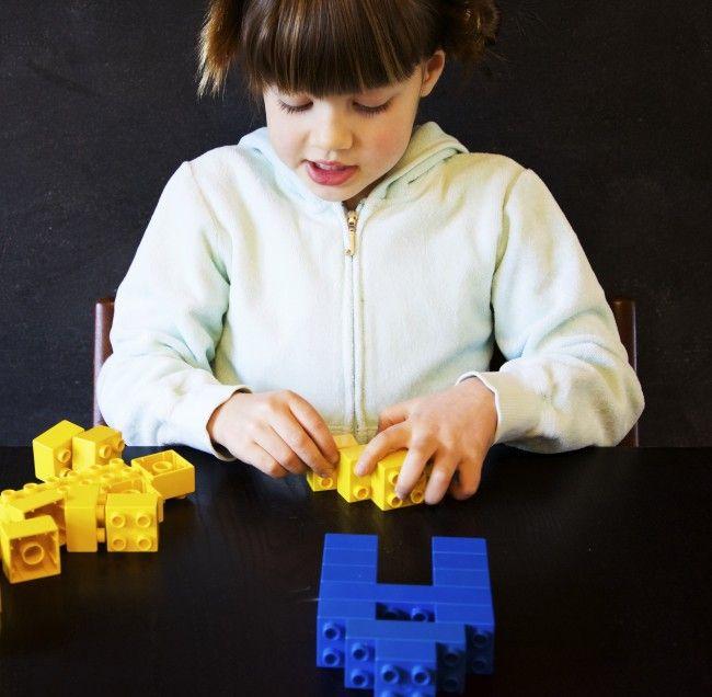 Building LEGO Names - Playdough To Plato