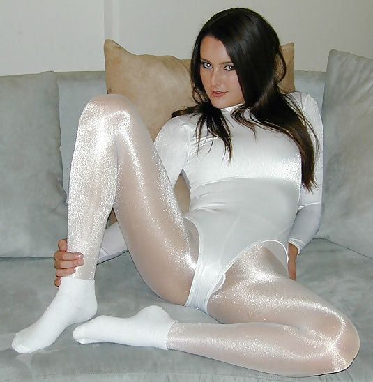 Clothing fetish hose panties spandex