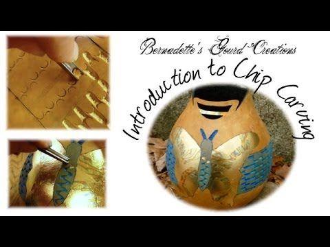 How to Chip Carve a Gourd by Bernadette Fox.  http://www.youtube.com/user/bernadettegourder?sub_confirmation=1