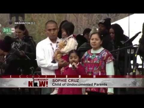 Watch Six-Year-Old Sophie Cruz Deliver Speech at Women's March on Washin...