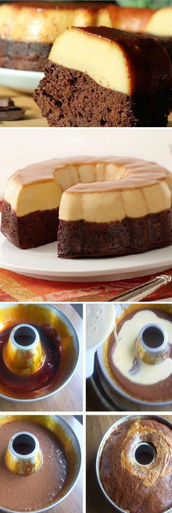 "Cómo preparar chocoflán o ""pastel imposible""  Pinterest | https://pinterest.com/elcocin"