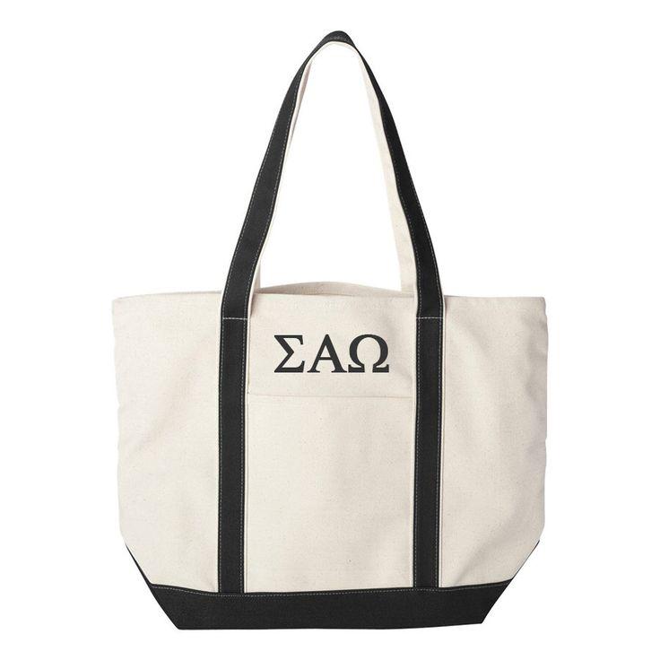 Sigma Alpha Omega Large Canvas Tote Bag, Sigma Alpha Omega Beach Bag, Sigma Alpha Omega College Book Bag, Sigma Alpha Omega Tote by SororityLettersShop on Etsy https://www.etsy.com/listing/257004114/sigma-alpha-omega-large-canvas-tote-bag