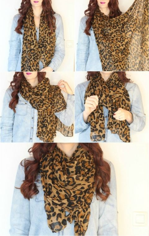 how to tie a scarf lightweight