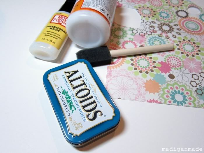 Make a Business Card Holder from an Altoids Tin ~ Madigan Made { simple DIY ideas }