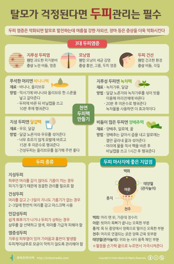 [Korean] 탈모가 걱정된다면 두피관리는 필수 #scalp #infographic #health