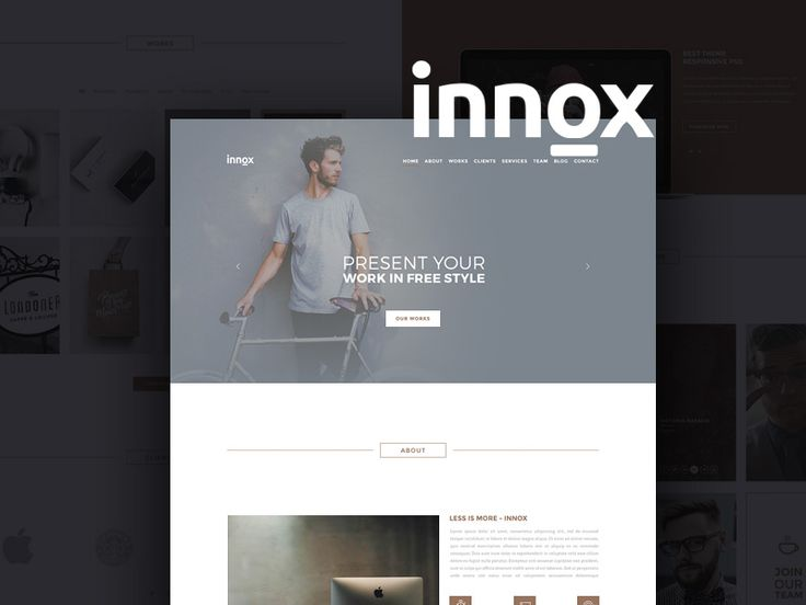 Innox is a creative and elegant design office template that comes with additional secondary pages, blog and portfolio. In total there are 6 layered free psd files. Each page was made using a 1170 grid system. The author of this awesome resource is Cemil Bayram.