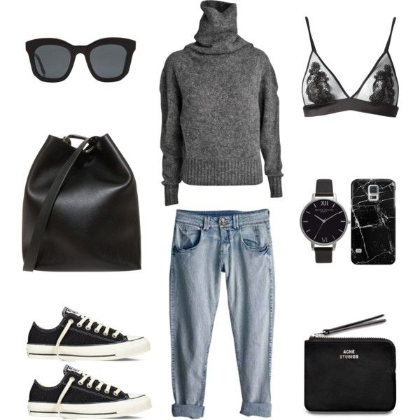 Off Duty Style by fashionlandscape on Polyvore featuring Acne Studios, Fleur of England, Converse, 3.1 Phillip Lim, Olivia Burton, Casetify, STELLA McCARTNEY and Rip Curl