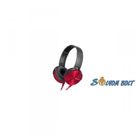 Sony MDRXB450APR.CE7 piros mikrofonos fejhallgató
