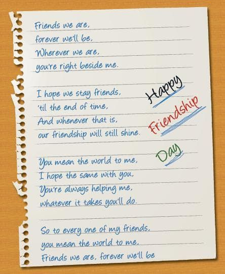 Friendship Day Poem Short Friendship Day Poems