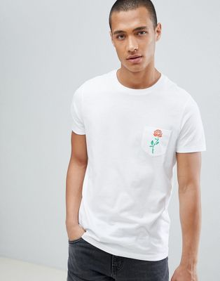 730780294 DESIGN T-Shirt With Rose Print Pocket | CREATED TO CREATE | T shirt ...