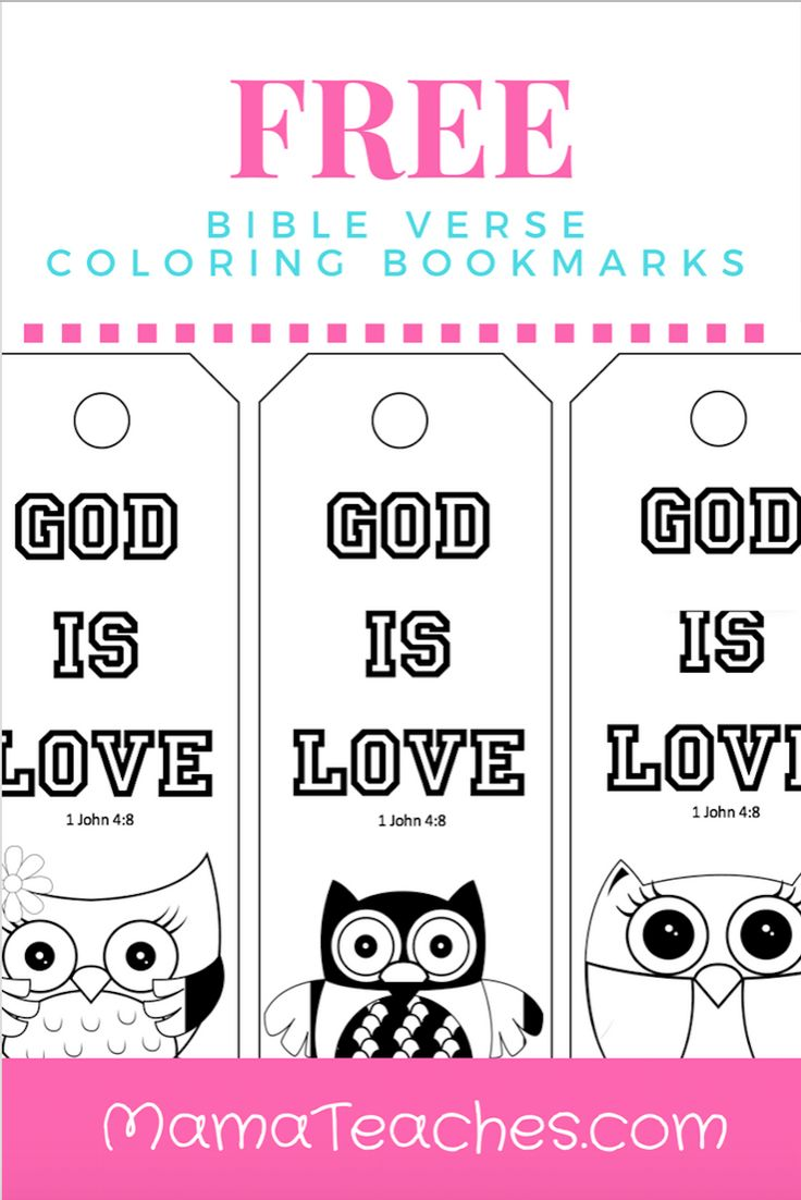 Valentine bookmark to color - Free Printable God Is Love Coloring Bookmarks For Kids