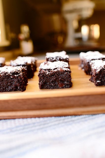 Dark Chocolate Brownies! Perfect for football-crazed fans. (Serve with milk, not beer.)
