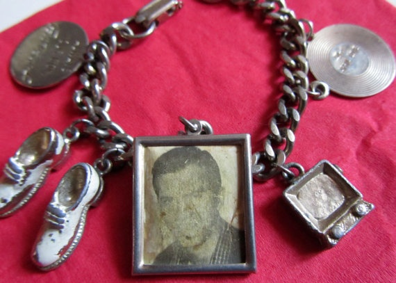 Vintage 1950s Handsome Pat Boone Charm Bracelet by Scentedlingerie, $16.25: 1950S Handsome, Charm Bracelets, Pat Boone April, Boone April Love ️, Boone Charms, Plays Jewelry, Handsome Pat, Charms Bracelets, Jewelry Boxes
