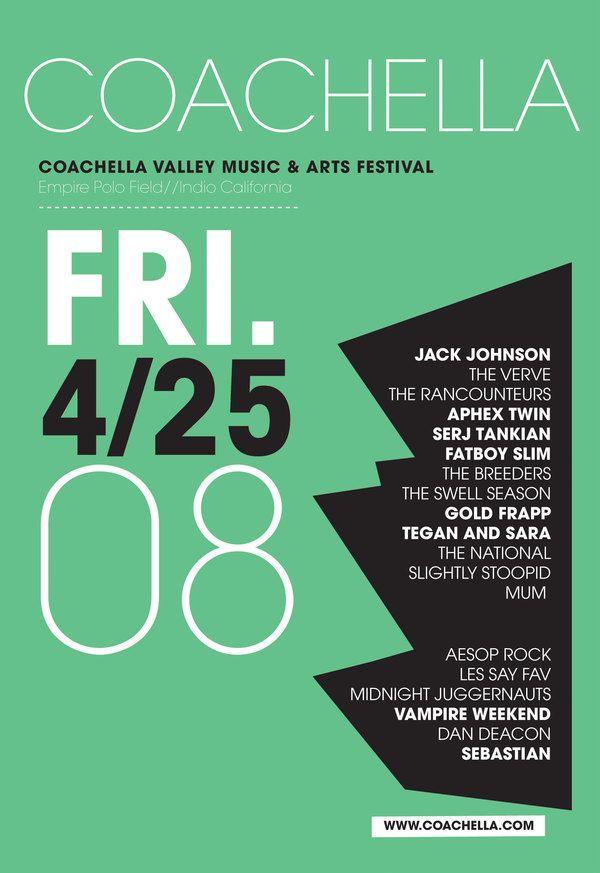 Coachella Music Festival by Johanna Galvan, via Behance