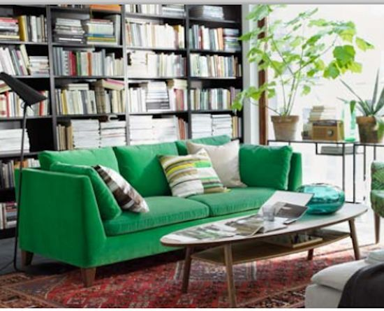 Color Of The Year 2013 Emerald Green Sofa