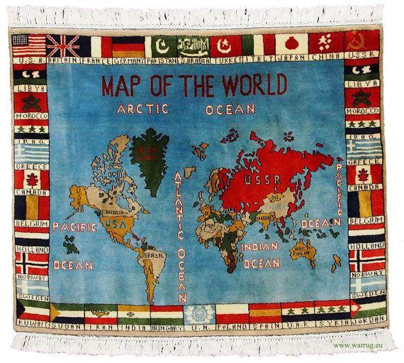 120 x 79 cm Rare warrug oriental wall Rug world by KabulGallery