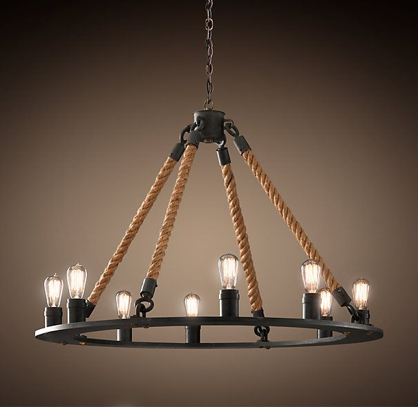 Rope Filament Round Chandelier Large 42 Quot 1195 Modern