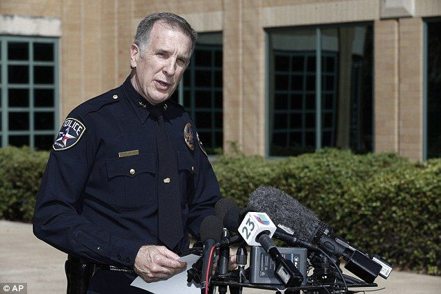 Irving police Chief Larry Boyd delivers a statement regarding Ahmed Mohamed, during a news...