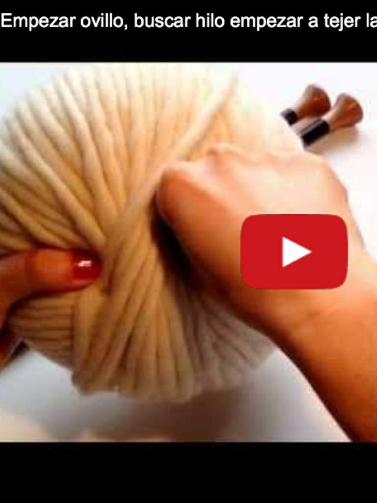Vídeos en nuestra web y Youtube. Empezar el ovillo para que no ruede. #tejer #wool #yarn #video #knitting