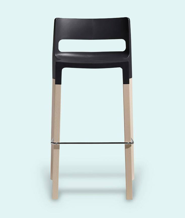 Divani Natural Bar Stool in Anthracite by Impaczone