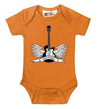Winged Guitar Rock N Roll Orange One Piece
