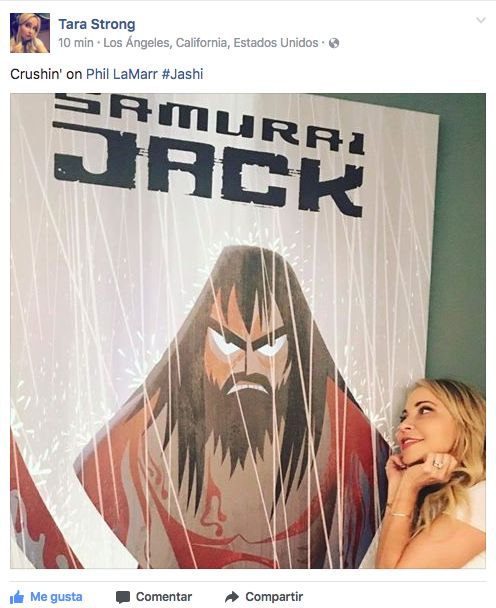 Terra Strong; the voice of Ashi, crushing on Samurai Jack
