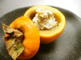 本格的!柿の白和え Persimmon and Tofu
