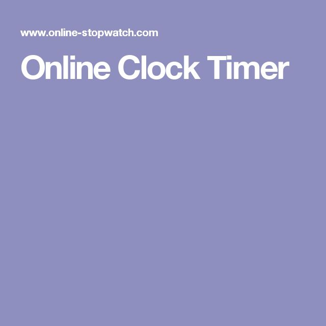 Online Clock Timer
