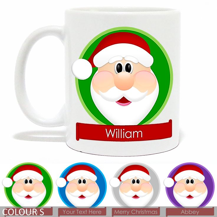 Personalised Christmas Mug - Santa - Banner