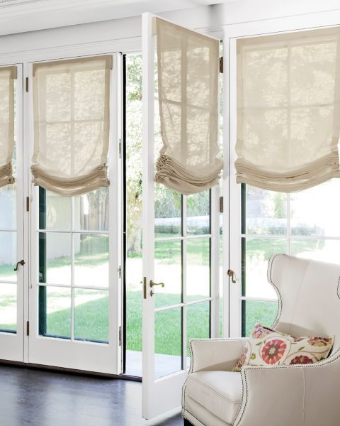 Relaxed Roman Fabric Shades 3603 Blinds For French