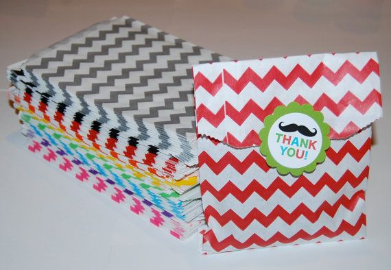Party Favor Bags   Chevron Paper Treat Bags  by isakayboutique