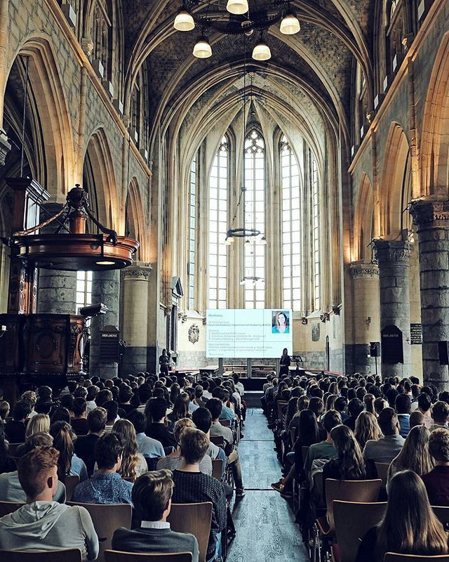 Management of Organisations and Marketing opening lecture in the beautiful St.Jan church.