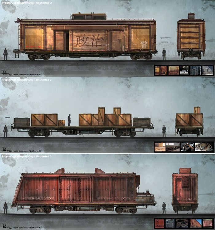Train Concept Art From Uncharted 2 Among Thieves Art Artwork