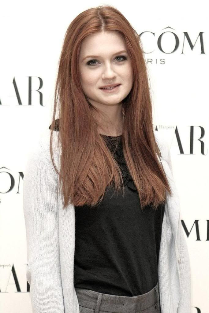 Bonnie Wright....this is how long I want my hair to be for a while. Then I'm chopping it.