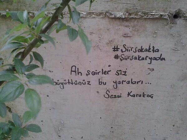 Ah şairler, siz büyüttünüz bu yaraları...   - Sezai Karakoç  #sözler #anlamlısözler #güzelsözler #manalısözler #özlüsözler #alıntı #alıntılar #alıntıdır #alıntısözler #şiir #edebiyat