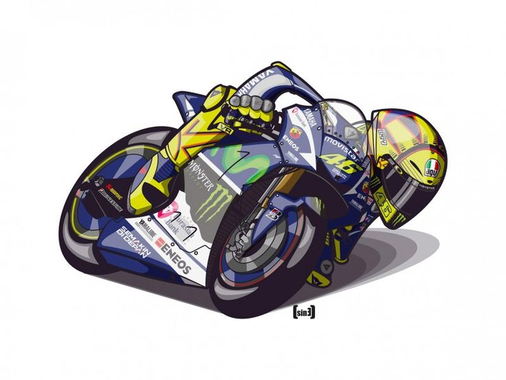 #MotoGP #Ilustración #Illustration #design #valentinorossi #motor #racing #vr46 #leathersuit Valentino Rossi