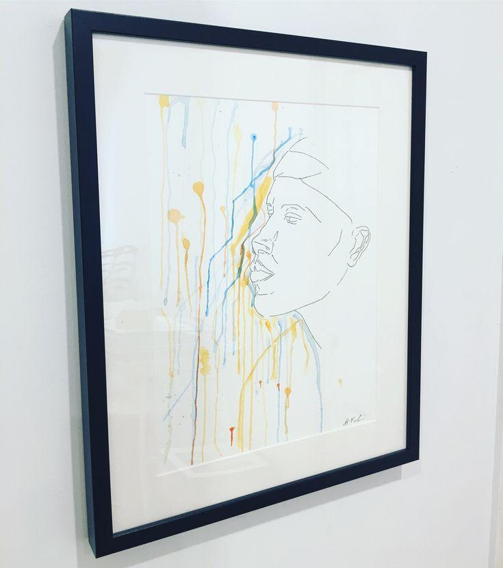 framed #portrait #painting #design #hayleyfrankart #watercolour #watercolourpainting