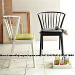 Kursi Cafe Minimalis Jari Cat Hitam Putih