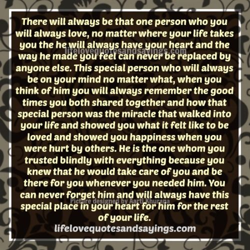 Quotes for Someone Special in Your Life | The Special Person In Your Life..