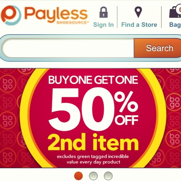 Deal Alert (US/CDN): Payless Shoes Buy One Get One 50% Off 2nd Item Happy Shopping! #deal #alert #payless #shoes #bogo #shopping #footwear #accessories #sale #fashion