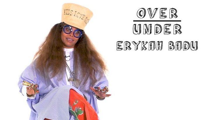 Erykah Badu Rates Aliens, Period Tracker Apps, and Porky Pig on video.pitchfork.com // THE best over under I've ever seen. i love erykah.