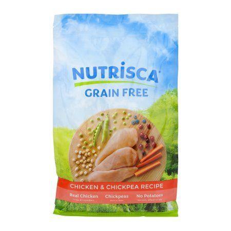 Nutrisca Grain Free Premium Dog Food Chicken & Chickpea Recipe, 4.0 LB, Multicolor
