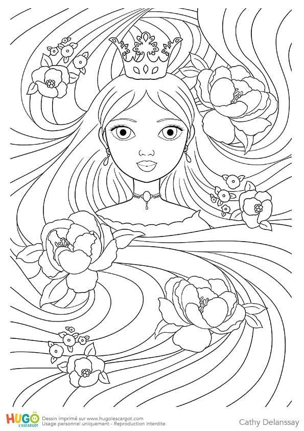 Coloriage et illustration de Raiponce, princesse de
