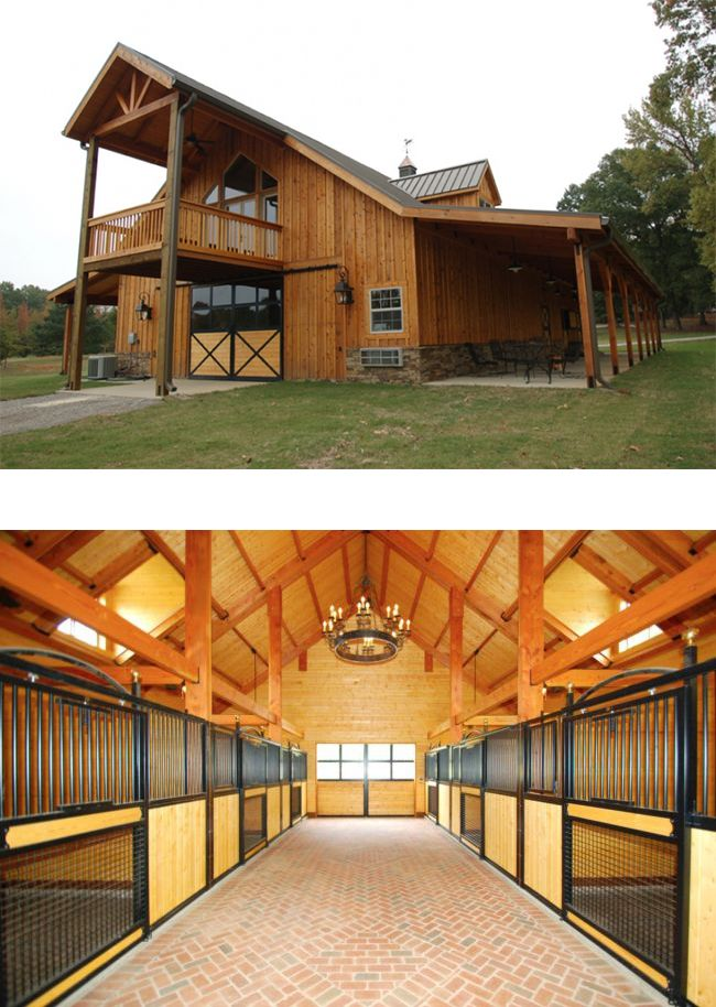 The interior and exterior of this barn are quite impressive.